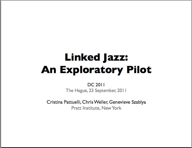 Linked Jazz: An Exploratory Pilot